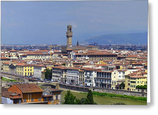 Italian Sunset Greeting Cards - Florence Italy Greeting Card by Travel Images Worldwide