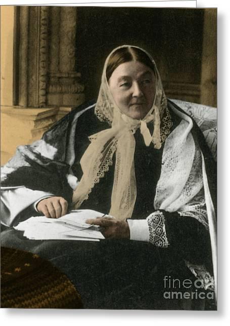 Florence Nightingale, English Nurse Greeting Card by Science Source