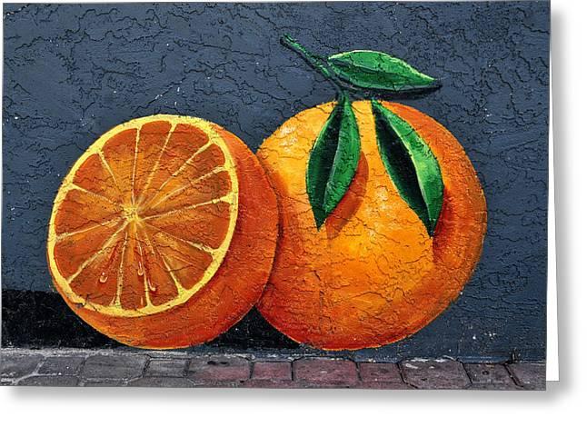 Orange. Greeting Cards - Florida Orange Greeting Card by David Lee Thompson
