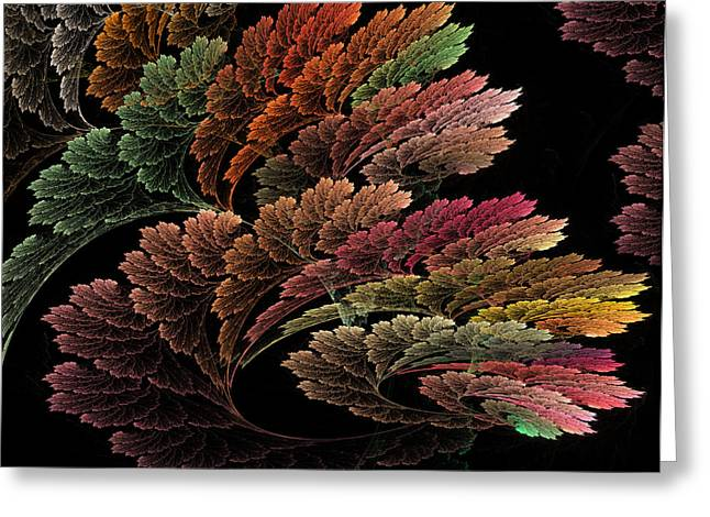Fractal Flower Greeting Cards - Flowers  Greeting Card by Betsy C  Knapp