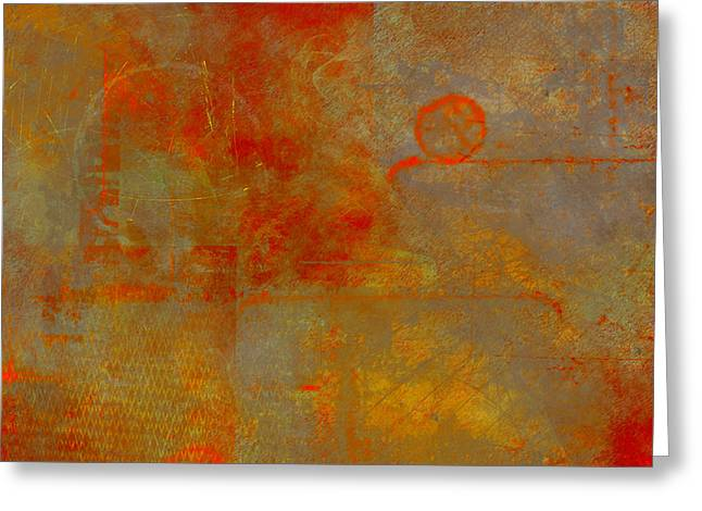Worn Greeting Cards - Fluorescent Rust Greeting Card by Christopher Gaston