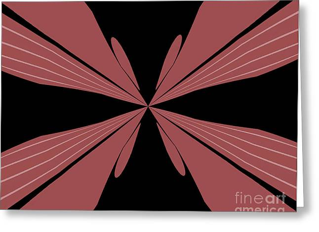 Abstract Butterfly Prints Greeting Cards - Flutterbye Greeting Card by Marsha Heiken