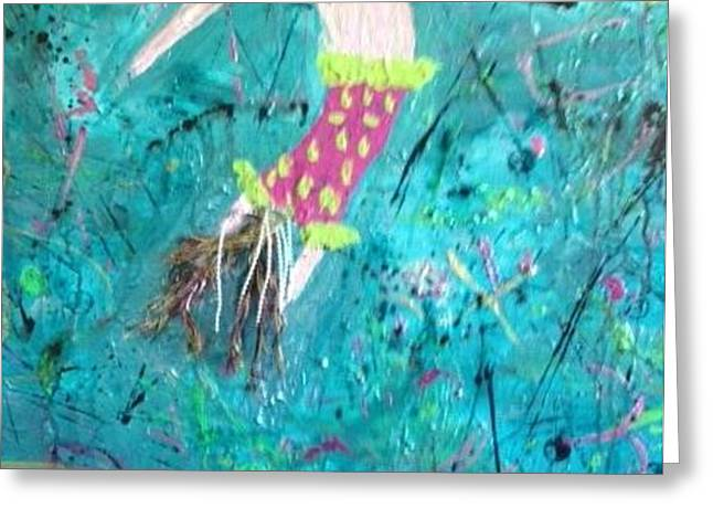 Flying Without a Net Greeting Card by Annette McElhiney