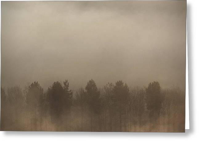 Fog Wall Greeting Card by Andy Astbury