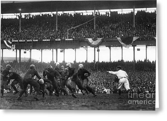 Runner Greeting Cards - Football Game, 1925 Greeting Card by Granger