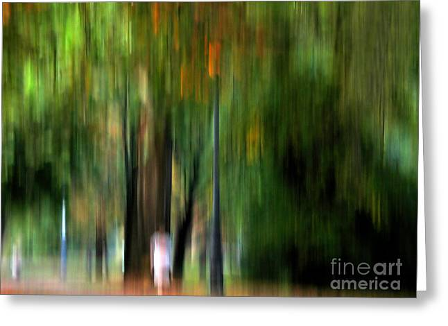Sweating Greeting Cards - Forest abstract Greeting Card by Odon Czintos