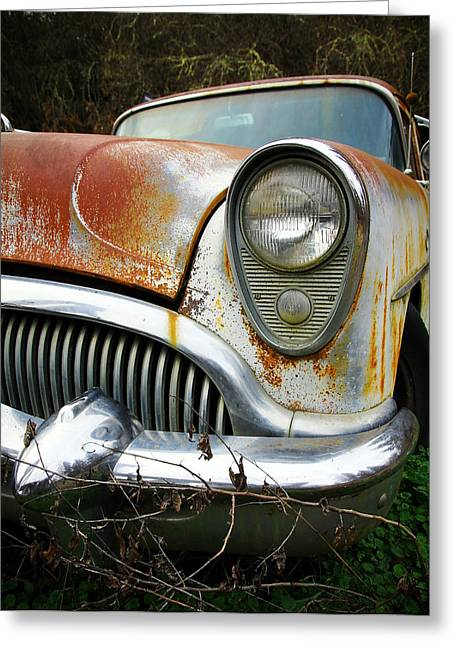 1949 Plymouth Greeting Cards - Forgotten Buick Greeting Card by Steve McKinzie