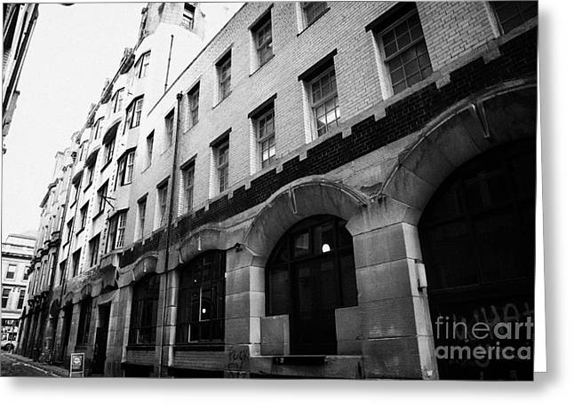 Rennie Greeting Cards - Former Daily Record Building Designed By Charles Rennie Mackintosh In Renfield Lane Glasgow Scotland Greeting Card by Joe Fox