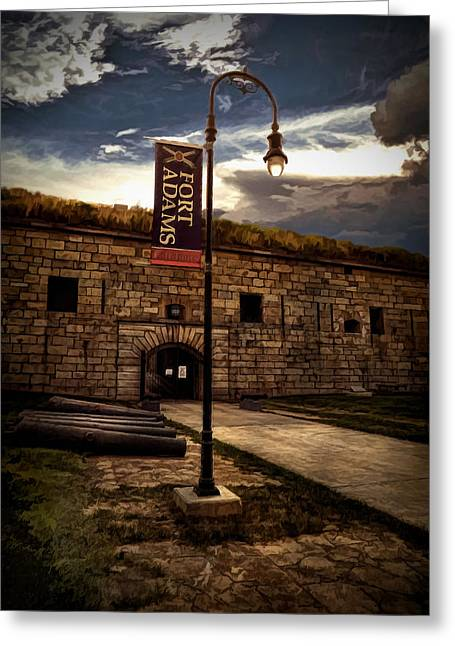 New England Ocean Digital Greeting Cards - Fort Adams State Park Greeting Card by Lourry Legarde