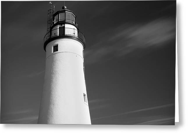 Water Vessels Greeting Cards - Fort Gratiot Lighthouse Greeting Card by Gordon Dean II