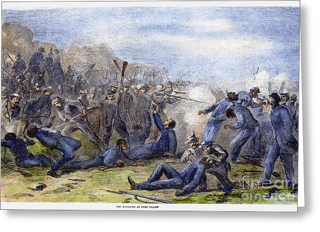 Bayonet Photographs Greeting Cards - Fort Pillow Massacre, 1864 Greeting Card by Granger