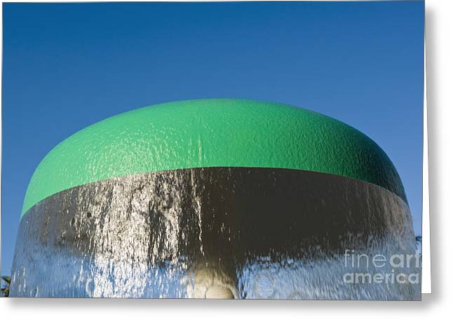 Blue Mushrooms Greeting Cards - Fountain Greeting Card by Juan  Silva