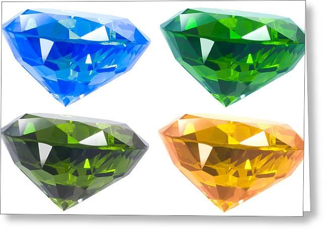 Four diamond Greeting Card by ATIKETTA SANGASAENG