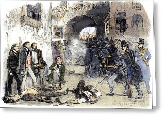 France: Paris Riot, 1851 Greeting Card by Granger