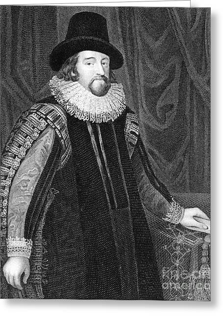 Inquiry Greeting Cards - Francis Bacon, English Polymath Greeting Card by Science Source