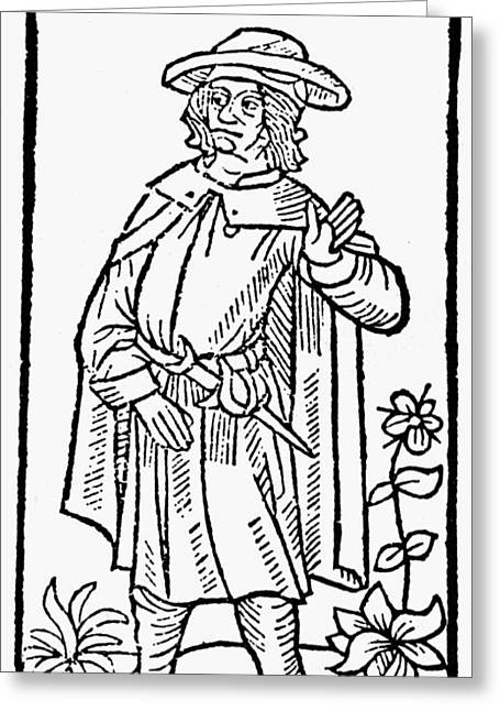 Francois Greeting Cards - Francois Villon (1431-1463) Greeting Card by Granger