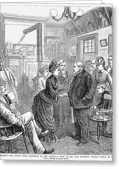 Newspaper Publisher Greeting Cards - Frank Leslie (1821-1880) Greeting Card by Granger