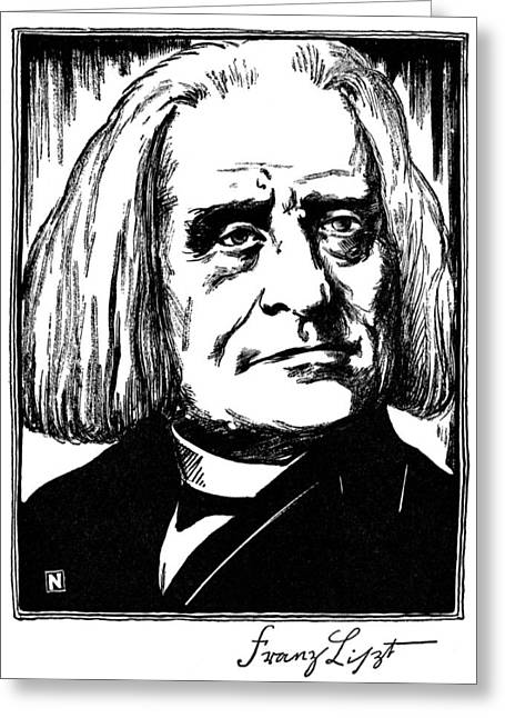 Autograph Greeting Cards - Franz Liszt (1811-1886) Greeting Card by Granger