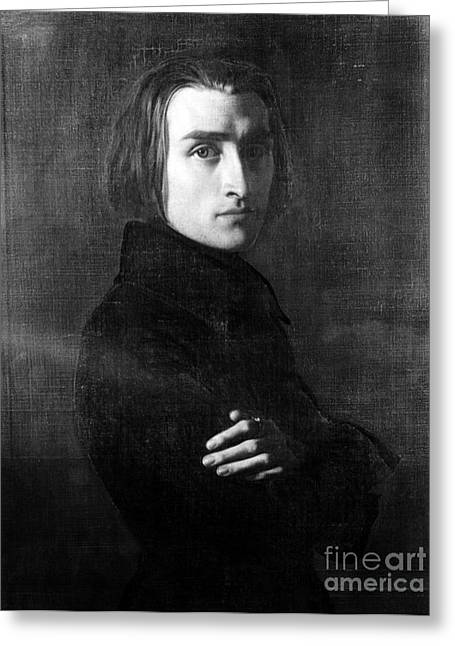 Greatest Of All Time Greeting Cards - Franz Liszt, Hungarian Composer Greeting Card by Omikron