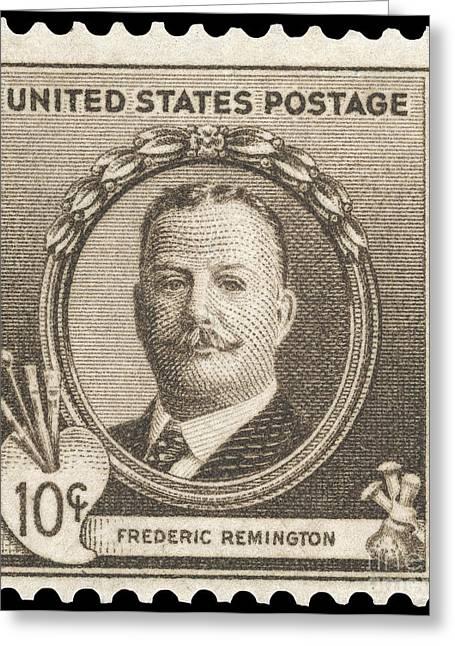 Remington Greeting Cards - Frederic Remington Greeting Card by Granger