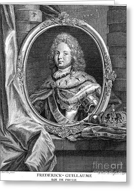 Oval Photographs Greeting Cards - Frederick William I (1688-1740) Greeting Card by Granger