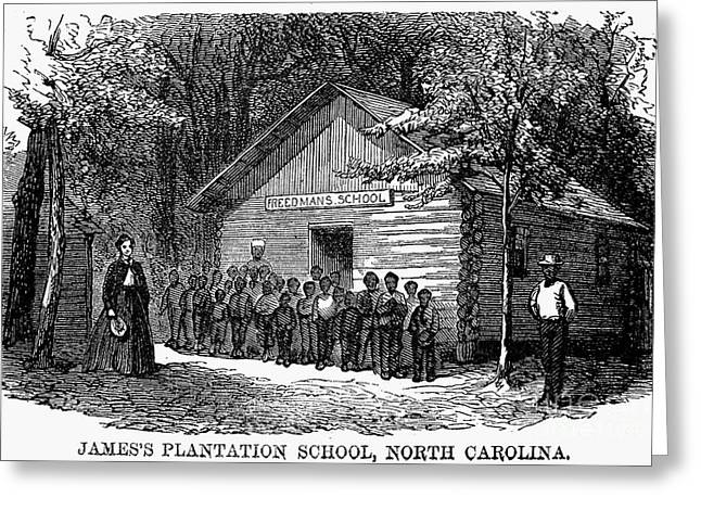Freedmen School, 1868 Greeting Card by Granger
