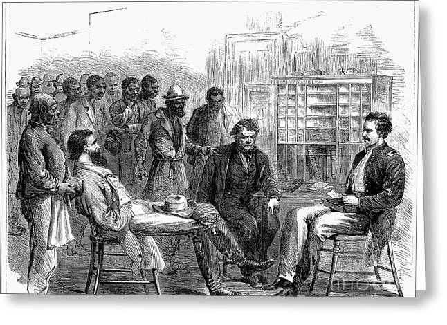 FREEDMENS BUREAU, 1866 Greeting Card by Granger
