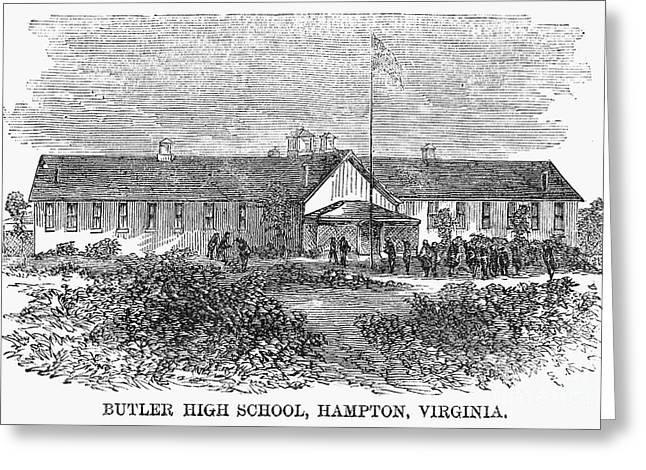 Freedman Greeting Cards - Freedmens School, 1868 Greeting Card by Granger