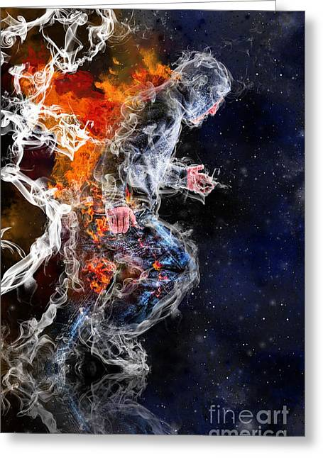Smoke Mixed Media Greeting Cards - Freedom Greeting Card by Danielle Kasony
