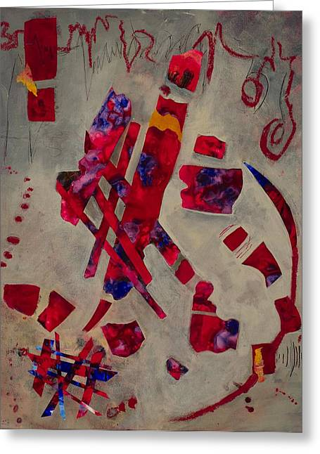 Ultra Modern Mixed Media Greeting Cards - Freedom of Expression Greeting Card by Marie Cummings
