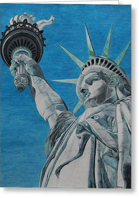 Freedom Greeting Card by Rabea Albilt