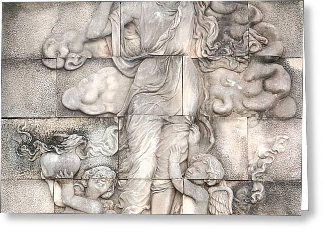 Frescoes of women in mythology Greeting Card by Phalakon Jaisangat