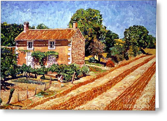 Europe Paintings Greeting Cards - Fresh Cut Hay Provence Greeting Card by David Lloyd Glover