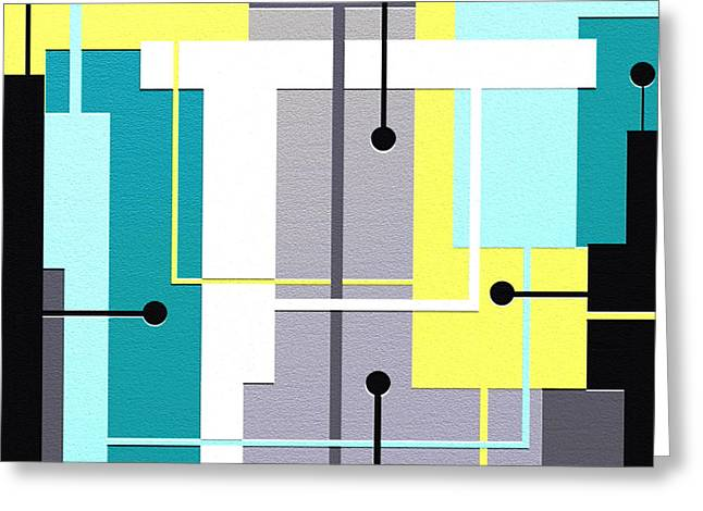 Geometrical Art Digital Art Greeting Cards - Fresh Greeting Card by Ely Arsha
