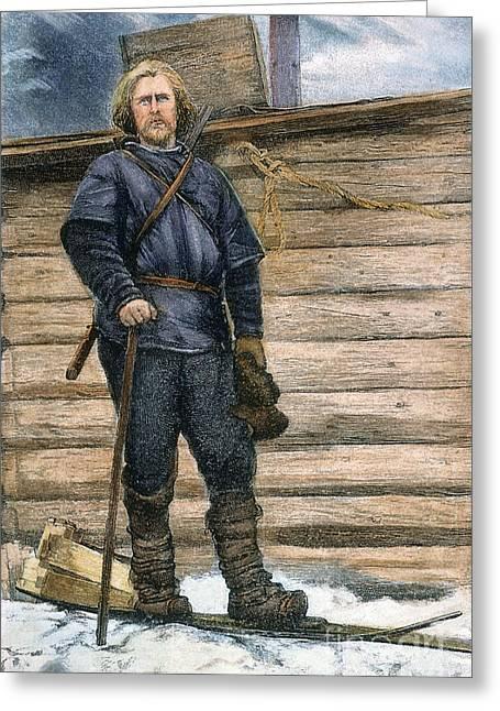 Nansen Greeting Cards - Fridtjof Nansen (1861-1930) Greeting Card by Granger