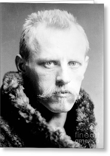 Nobel Recipient Greeting Cards - Fridtjof Nansen, Norwegian Explorer Greeting Card by Science Source