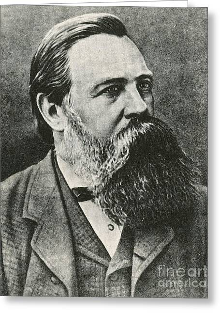 Engels Greeting Cards - Friedrich Engels, German Philosopher Greeting Card by Photo Researchers