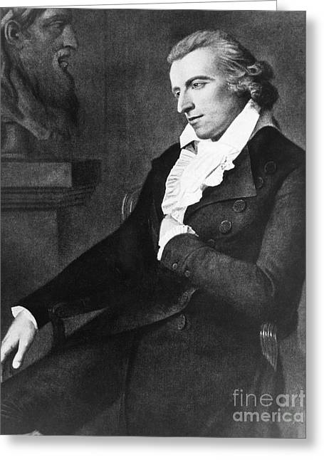 Dramatist Greeting Cards - Friedrich Schiller, German Poet Greeting Card by Photo Researchers, Inc.