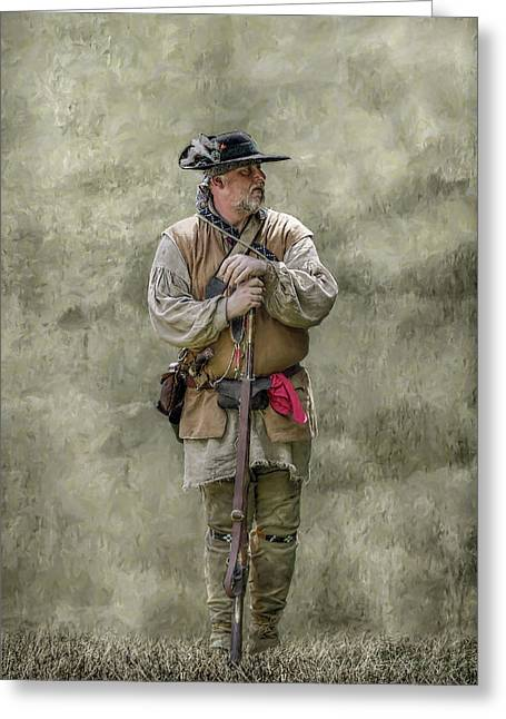 Rogers Rangers Greeting Cards - Frontiersman Portrait Greeting Card by Randy Steele