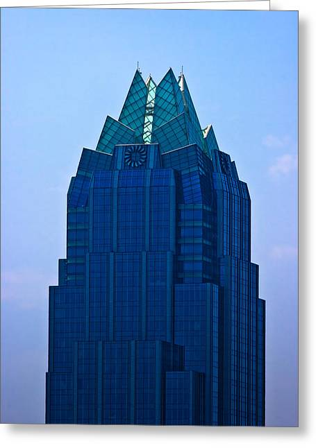 Frost Bank Building Greeting Cards - Frost Bank Tower in Austin Greeting Card by Ed Gleichman