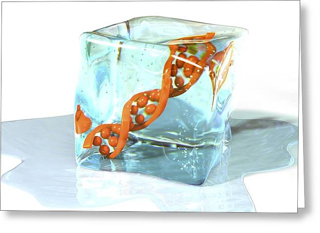 Helix Greeting Cards - Frozen Dna, Conceptual Image Greeting Card by David Mack