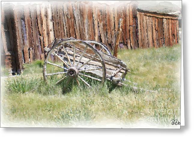 Old Western Photos Greeting Cards - Frozen in Time Greeting Card by Brenda Deem