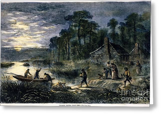 FUGITIVE SLAVES, 1864 Greeting Card by Granger