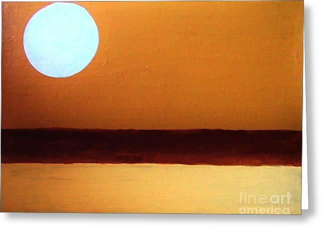 Sienna Digital Art Greeting Cards - Full Moon Greeting Card by Marsha Heiken