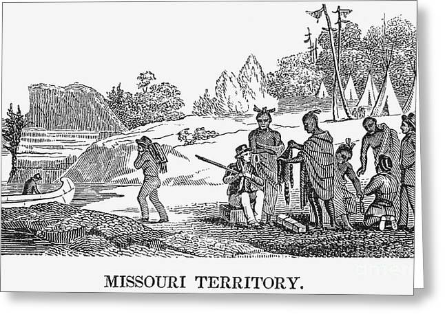 Destiny Greeting Cards - Fur Traders, 1853 Greeting Card by Granger