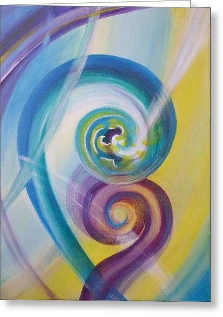 Kiwi Art Greeting Cards - Fusion Greeting Card by Reina Cottier