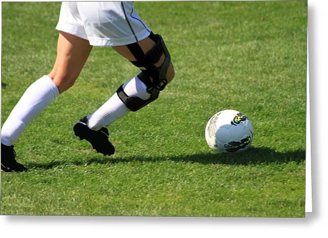 Legs 11 Greeting Cards - Futbol Greeting Card by Laddie Halupa