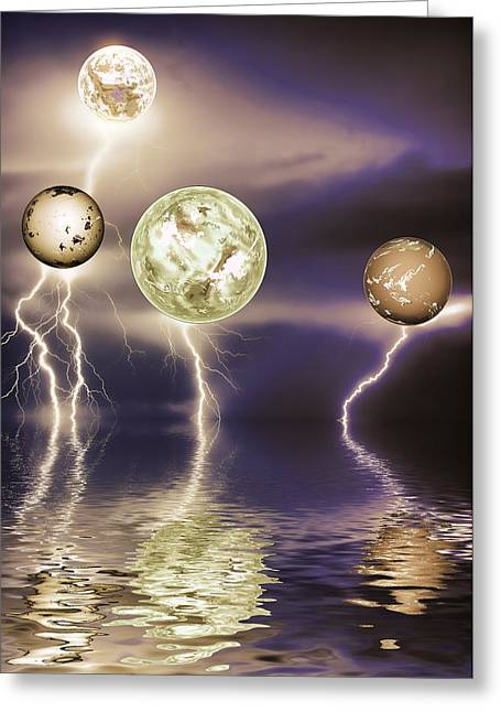 Science Fiction Greeting Cards - Galactic storm Greeting Card by Sharon Lisa Clarke