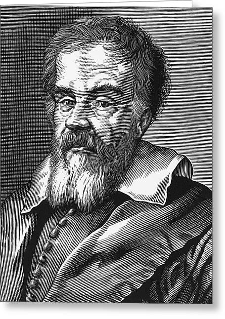 Dialogue Greeting Cards - Galileo Galilei, Italian Astronomer Greeting Card by Bill Sanderson