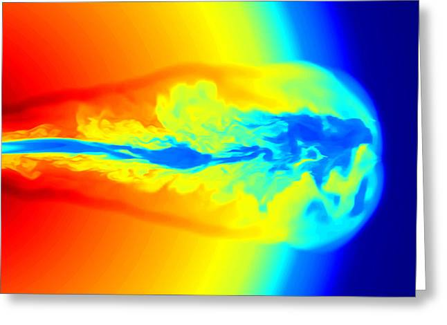 Gamma Rays Greeting Cards - Gamma Ray Burst Formation Greeting Card by Weiqun Zhangstan Woosley